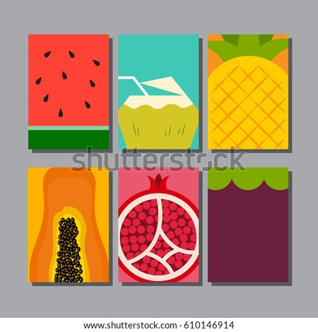 summer fruit, layout design,template cover, booklet,flyer,leaflet,vector illustration.
