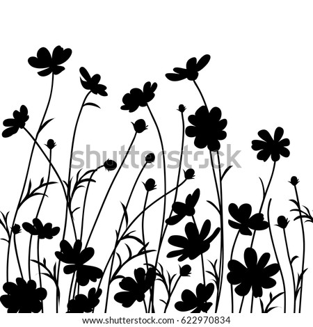 Flowers Silhouette Stock Images Royalty Free Images