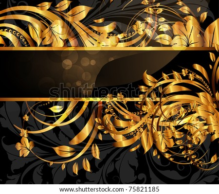 Summer golden card with ornament at background and sun shine. Vector pattern. eps 10 - stock vector