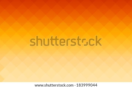 summer gradient orange square polygon pattern background (vector) - stock vector