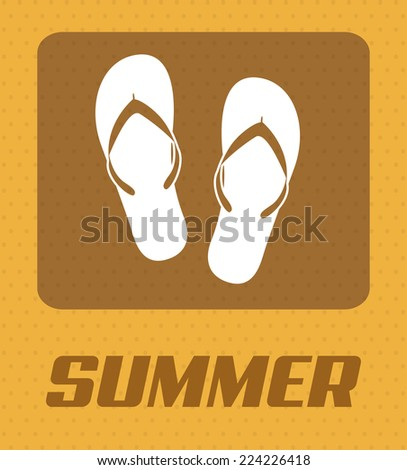 summer graphic design , vector illustration - stock vector