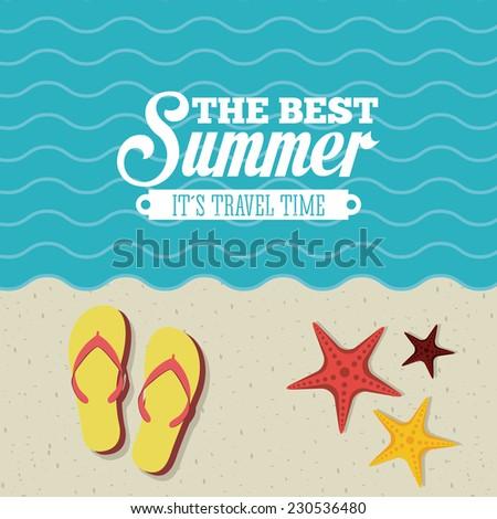 summer graphic design , vector illustration - stock vector