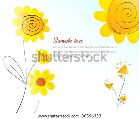 Summer greeting card. Vector illustration - stock vector