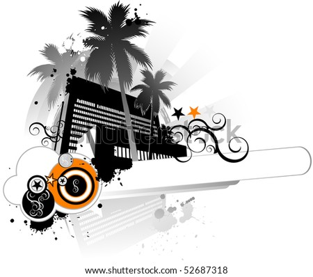Summer grunge banner - stock vector