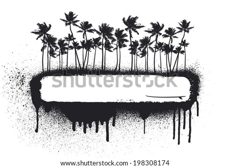 summer grunge coast - stock vector