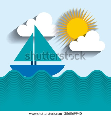 summer holiday design, vector illustration eps10 graphic