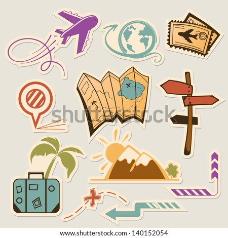 Summer holiday doodle collection - stock vector