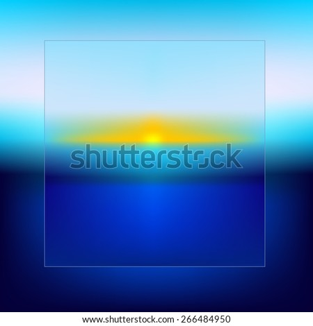 Summer holiday to remember, beach with  refocused lights - eps10 vector  - stock vector