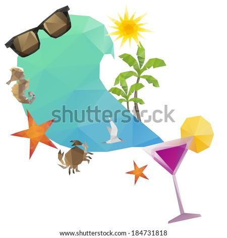 Summer holidays background, vector illustration - stock vector