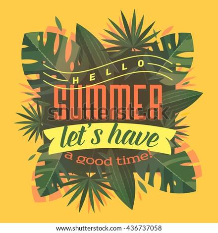 Summer holidays background. Vector illustration - stock vector