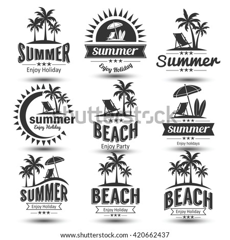 Beach Logo Stock Images, Royalty-Free Images & Vectors ...