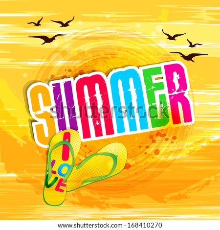 Summer holidays illustration / Summer background - stock vector