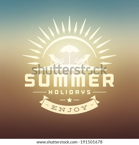 Summer holidays vector background. Summer message for your design vector illustration.  - stock vector