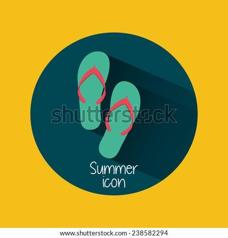 summer icon - stock vector