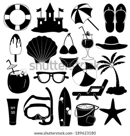 Summer Icons Vector Collection - stock vector