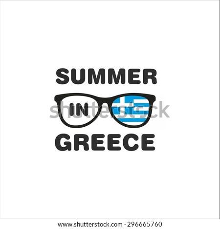 Summer in Greece - stock vector