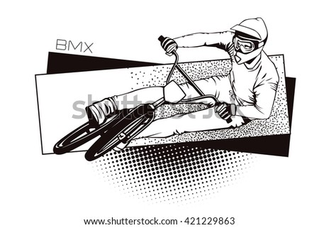 Summer kinds of sports. BMX cycling.