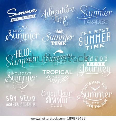 Summer labels - stock vector