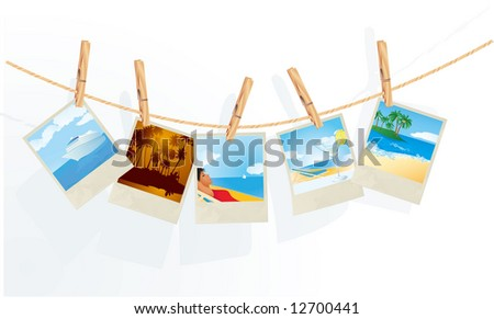Summer memories. Vector. - stock vector