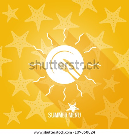summer menu design background - stock vector