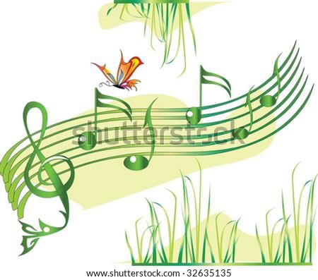 Summer music - stock vector