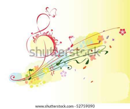 Summer music - stock vector