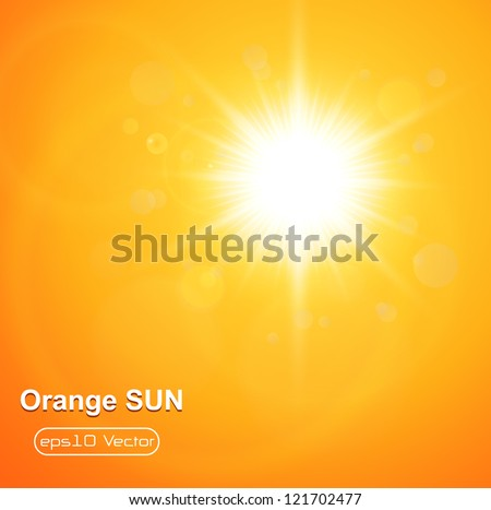 Summer natural  background with vector sun.