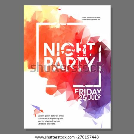 Night Flyer Template