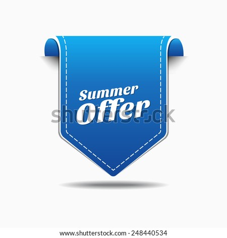 Summer Offers Blue Vector Icon Design