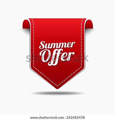 Summer Offers Red Vector Icon Design
