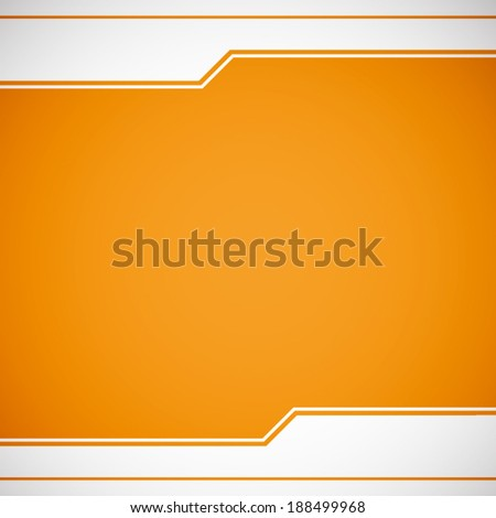 summer orange background with white line pattern (vector)  - stock vector