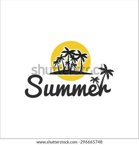 Summer Palm tree - stock vector