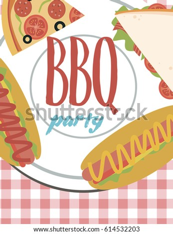Summer party invitation barbecue picnic template stock photo photo summer party invitation barbecue picnic template vector illustration stopboris Images