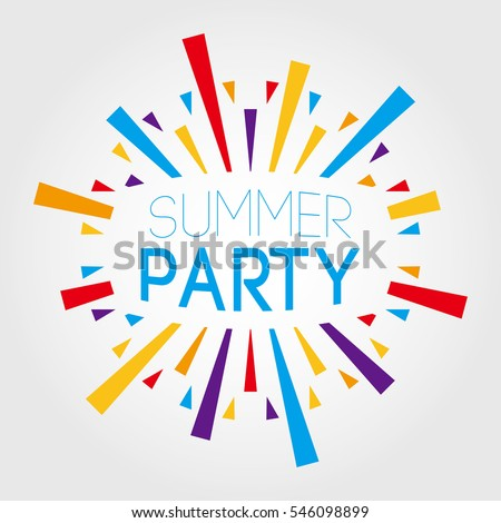 summer party vector illustration poster banner stock vector rh shutterstock com party factory in birmingham party factory wembley outlet