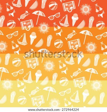 Summer pattern. Summer elements collection. Vector Illustration. - stock vector