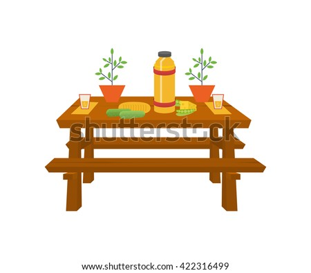 Picnic Table With Food Clip Art | www.pixshark.com ...