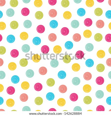 Summer polka dot pattern. - stock vector