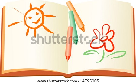 Summer rest child book - stock vector