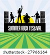 Summer Rock Festival Flyer - stock photo
