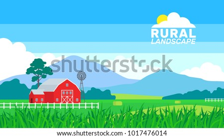 summer rural landscape farming countryside background