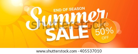 summer sale banner - stock vector