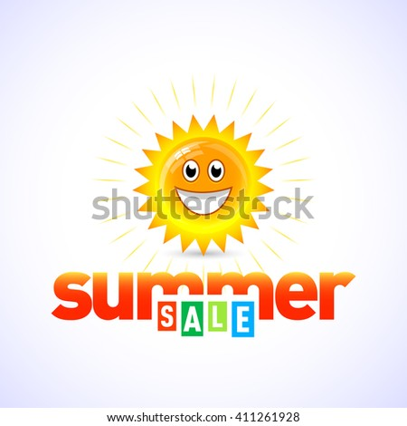 Summer sale banner, logo template, badge, emblem. Isolated summer sale vector illustrations. Summer icon. - stock vector
