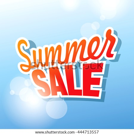 Summer sale banner. Vector illustration