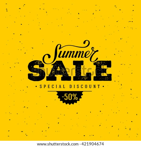 Summer Sale banner. Vintage design. Vector illustration. - stock vector