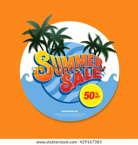 summer sale circle label