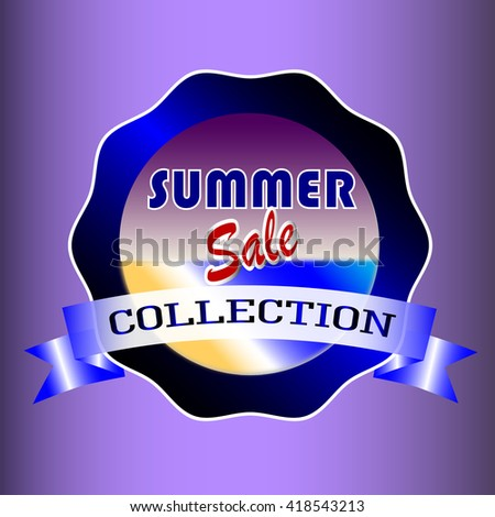 summer sale collection, label fresh template
