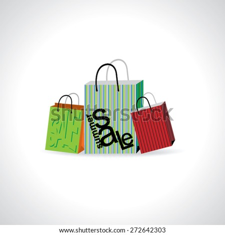 summer sale concept with shopping bag vector illustration