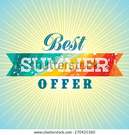 summer sale design template - stock vector