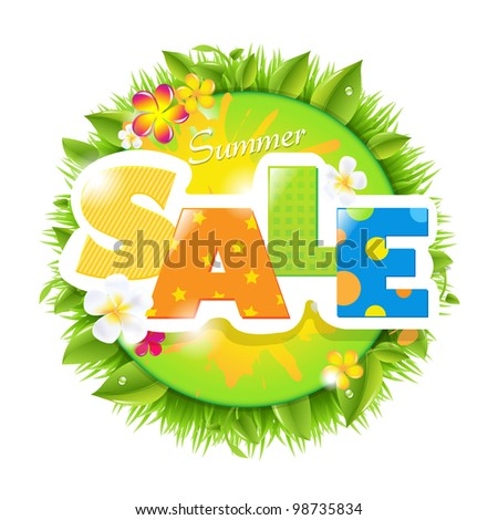 Summer Sale Design Template, Vector Illustration - stock vector