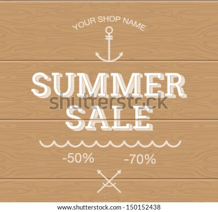 Summer Sale. EPS 10 - stock vector